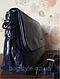Сумка жіноча класична темно-синя через плече на довгому ремінці Pretty Woman, фото 2