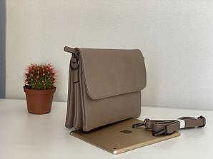 Женская сумочка клатч кофейного цвета через плечо Pretty Woman