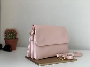Маленькая розовая молодежная сумка клатч через плечо Pretty woman