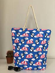Яркая пляжная эко сумка из хлопка