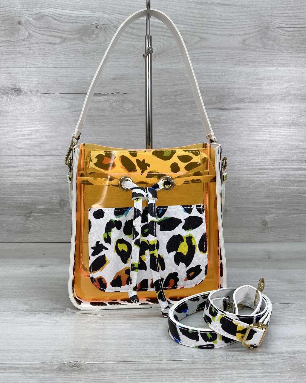 Яскрава літня красива маленька сумочка молодіжна силіконова і екошкіра