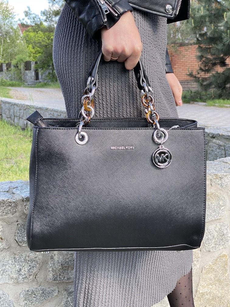 Элегантная повседневная черная сумка наплечная