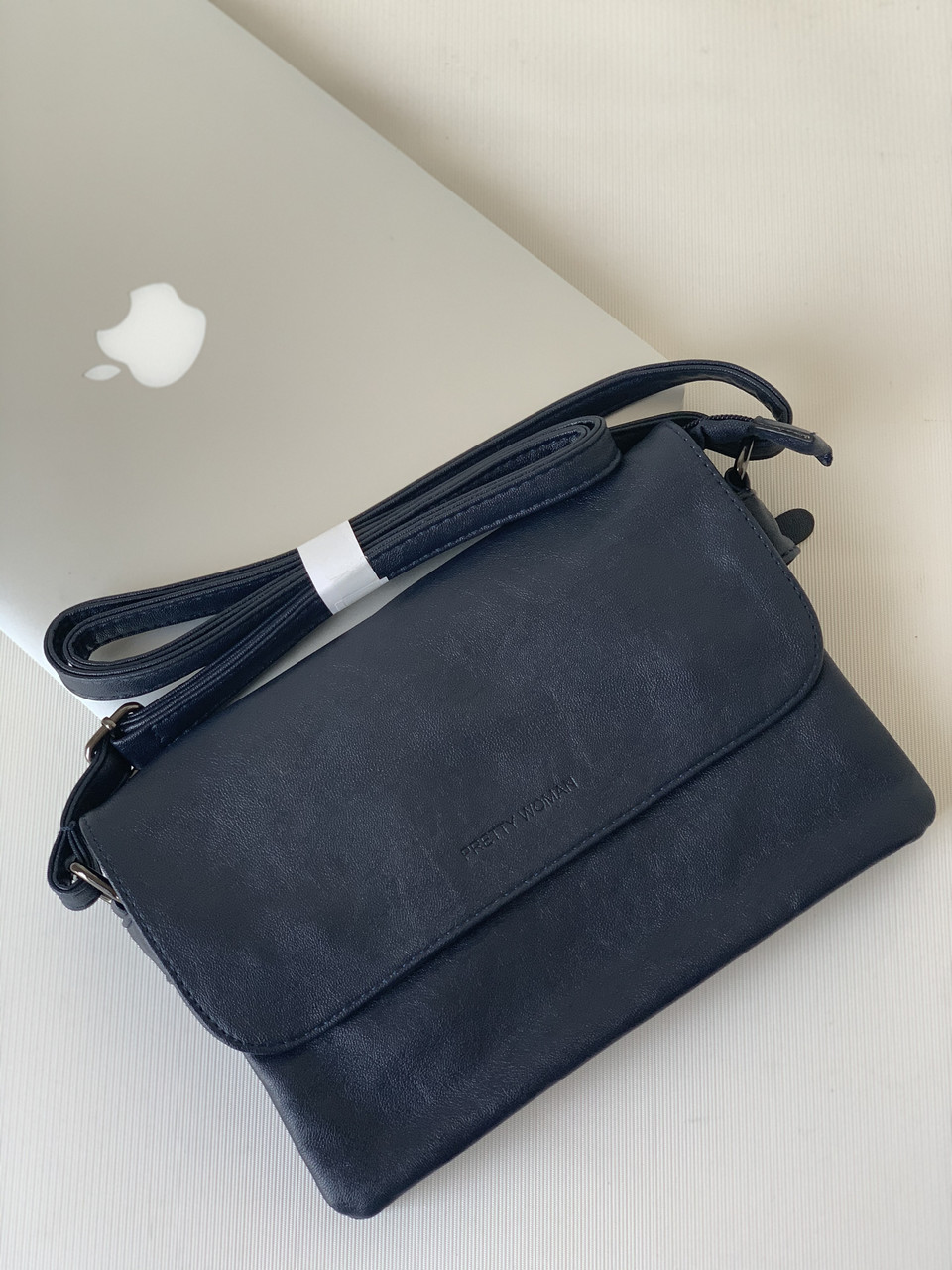 Молодежная мини сумочка клатч кроссбоди повседневный темно-синий через плечо Pretty Woman