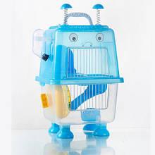 Клітка для хом'яка AnimAll Robotic 20.7x19x36 см блакитна