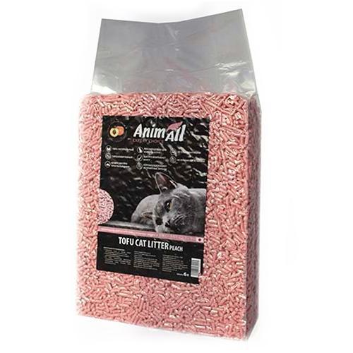 Соевый наполнитель AnimAll Tofu с ароматом персика 6 литров (2.6 кг)