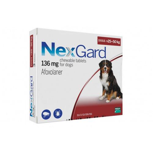 Таблетки Boehringer Ingelheim NexGard от блох и клещей для собак XL 25-50 кг (1 таблетка)