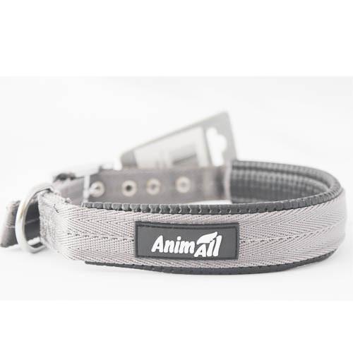 Нашийник AnimAll для собак M сірий