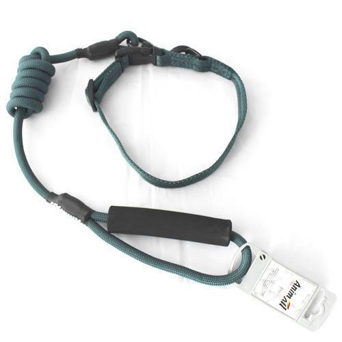 Комплект ошейник с поводком AnimAll для собак M темно-зеленый