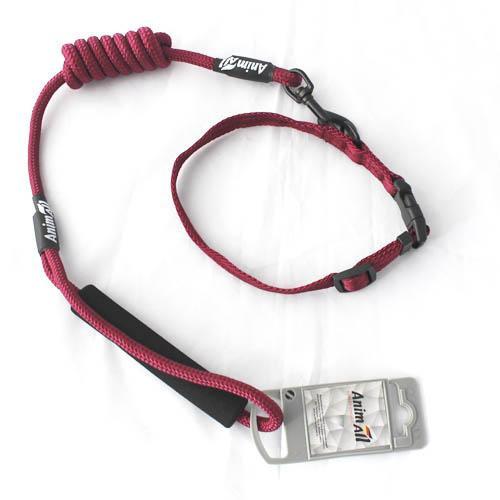 Комплект ошейник с поводком AnimAll для собак S 0.8 x 120 см красный