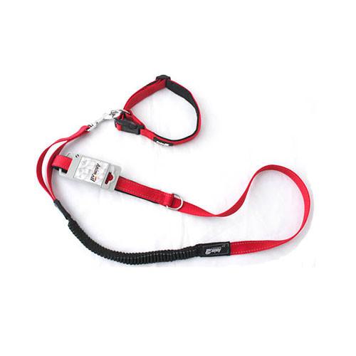 Комплект ошейник с поводком AnimAll для собак M красный