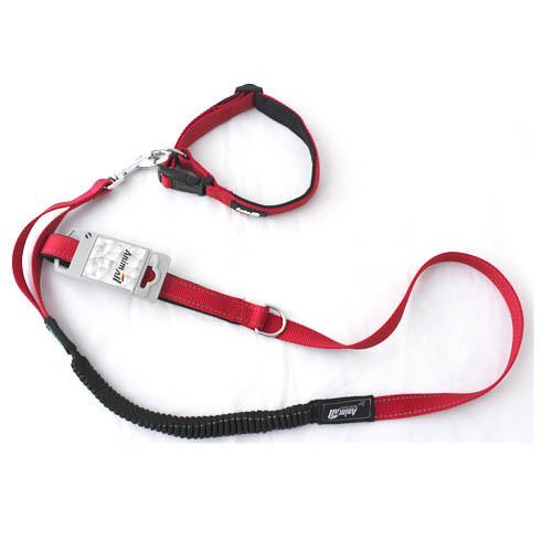 Комплект нашийник з повідцем AnimAll для собак L червоний
