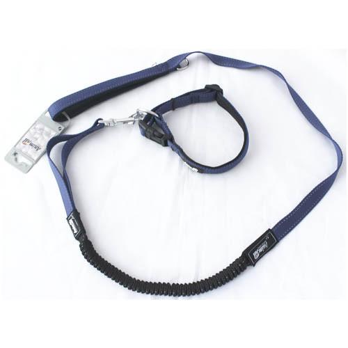 Комплект ошейник с поводком AnimAll для собак L синий