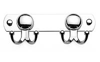 Крючок для полотенец двойной на планке, Турция К102