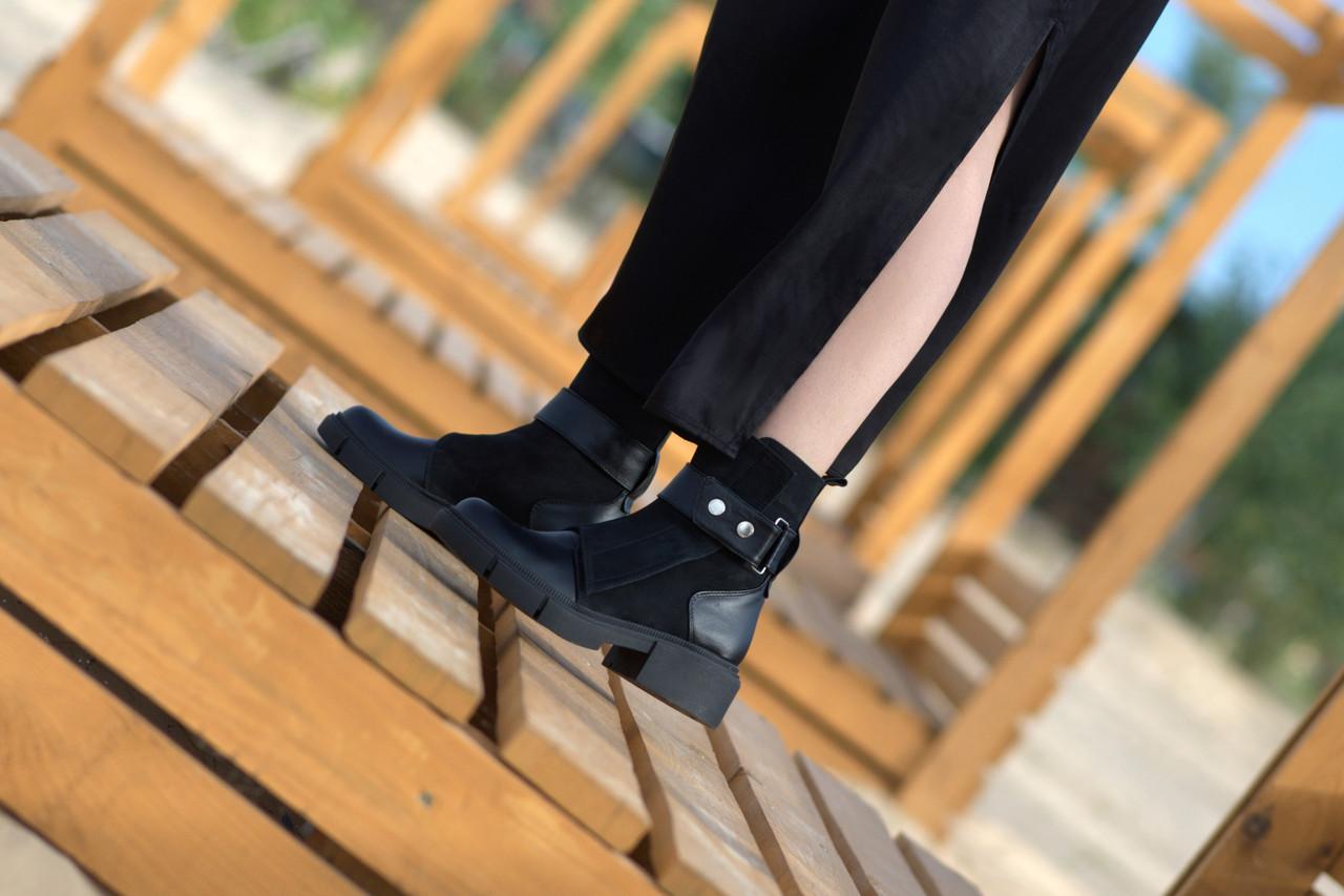 Зимние ботинки. Натуральные кожа и замша.