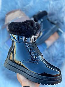 Ботинки женские зимние 2021 лак 36-41