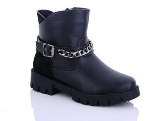 Ботинки детские Waldem-135 black-(раз.с 33 по 38)
