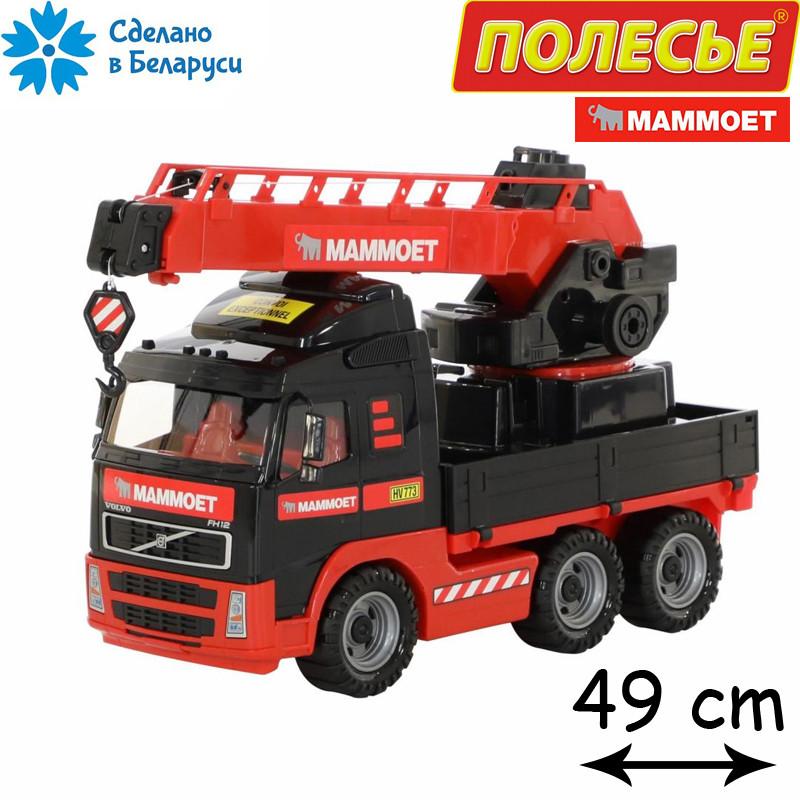 Игрушечный автомобиль-кран с поворотной платформой 49 см, Полесье-МАММОЕТ