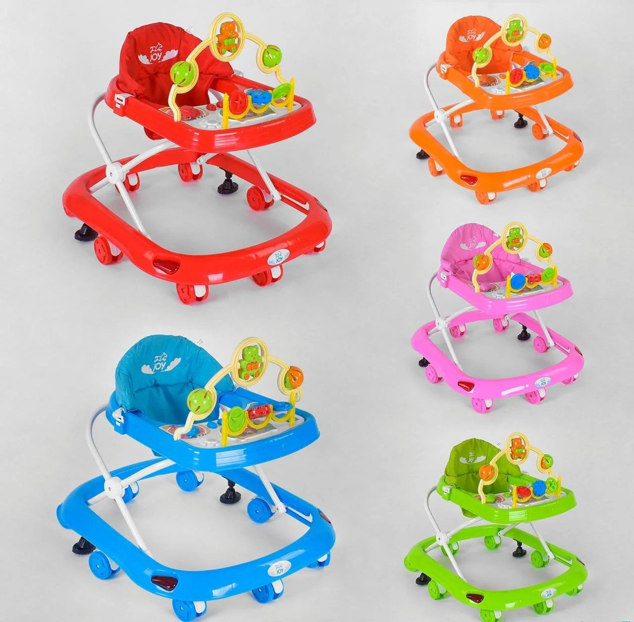Детские ходунки JOY 528, с игровой музыкальной панелью (5 цветов)