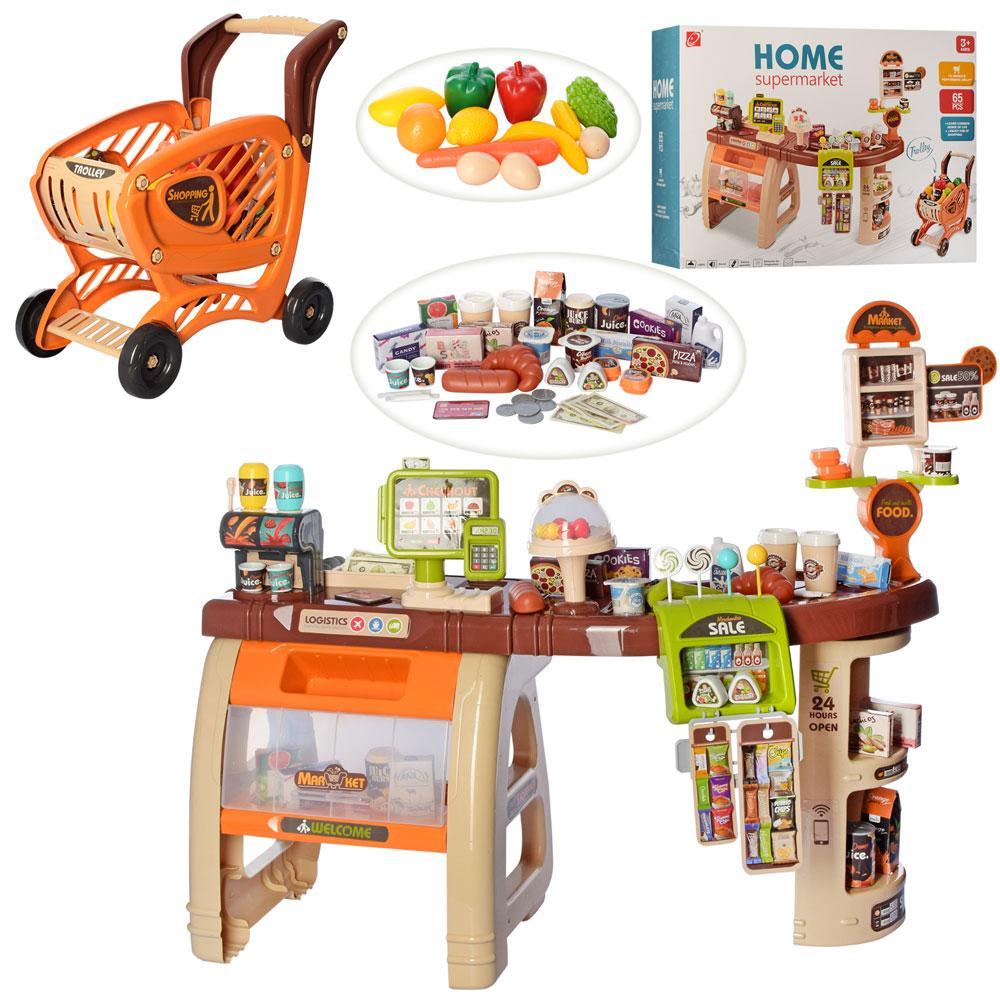 """Игровой набор """"Домашний супермаркет"""" 668-68, с продуктами и тележкой"""