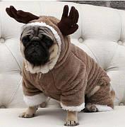 Костюм для домашних животных, костюм для собак Олень, размер L