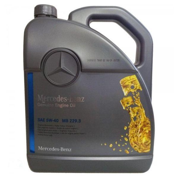 Моторное масло Mercedes-Benz 229.3 Engine Oil 5W-40 5л (000989910213)