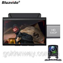 Автомобильный видеорегистратор + GPS навигатор Bluavido MR2 Android 8.1 + задняя камера + WiFi + 4G