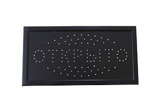 Світлодіодна вивіска CHV - 480 х 250 мм ВІДКРИТО (LED Sign Open A), (Оригінал)