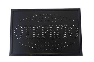 Вывеска светодиодная PRC - CHV 600 х 400 мм ОТКРЫТО (LED Sign Open C), (Оригинал)