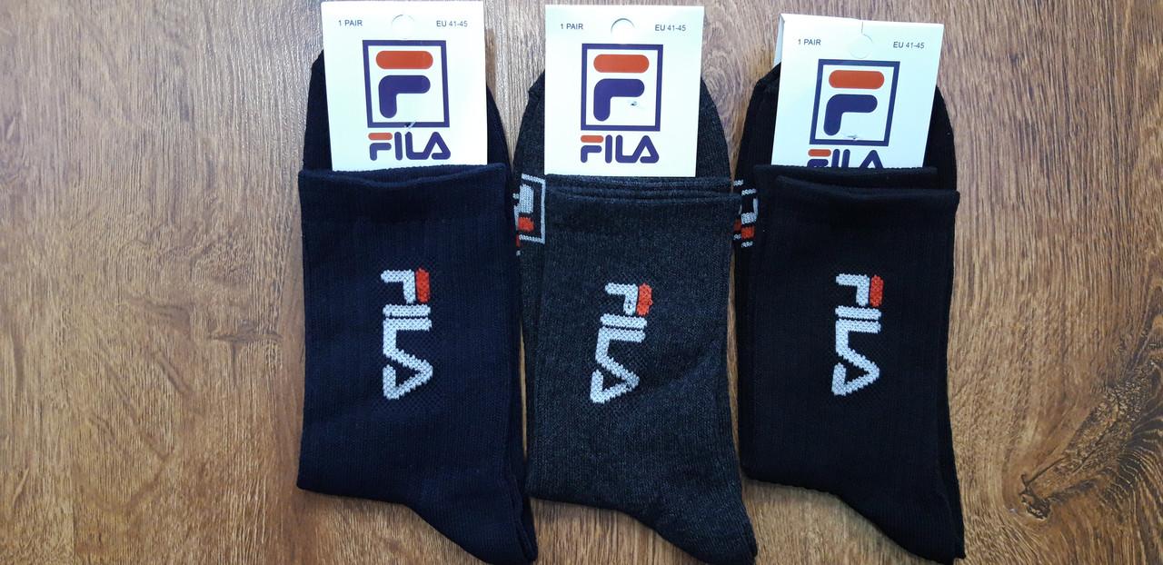 """Мужские носки, высокая резинка """"FILA"""" Турция (41-45)"""