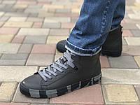 Зимние кожаные ботинки Мида 140143 сер размеры 40,41,42,43,44,45, фото 1