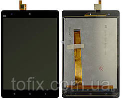 Дисплей для Xiaomi Mi Pad 1, модуль в сборе (экран и сенсор), черный, оригинал