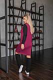 Женское трикотажное платье-сарафан с карманами р. 50-52, 54-56, 58-60, 62-64, фото 6