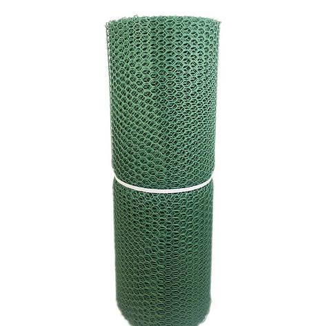 Забор садовый.Ячейка 20х20 мм, рул. 50см х 30 м (темно-зеленая).Ромб(Сота) паркан, фото 2