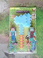 Игровой набор Майнкрафт с топором, фигурками и аксессуарами, звук, свет