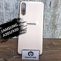Силиконовый чехол для Samsung A30S / A50 / A307 / A505 Glossy Logo Pink Sand, фото 1