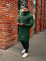 Парка мужская зимняя Snegovik хаки до 30*С | Куртка Пальто зимнее | Пуховик мужской зимний ЛЮКС качества