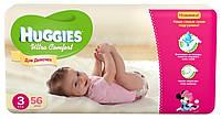 Підгузники для дівчинки Huggies Ultra Comfort 3(5-9)кг 56шт США 9400205