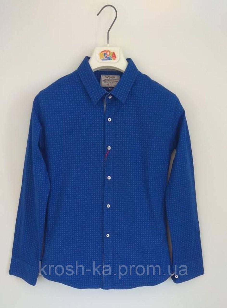 Рубашка для мальчика A-yugi Турция синяя 18040