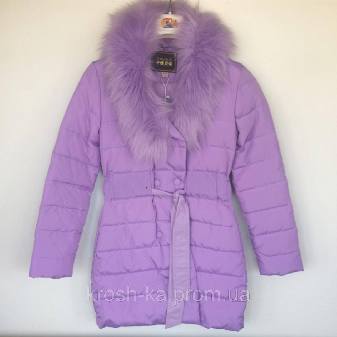 Пальто для девочки (160)р зимнее Vilen Китай лавандовый 8401