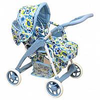 Коляска для кукол трансформер голубая Baby Mix Польша ME-9388S-M807