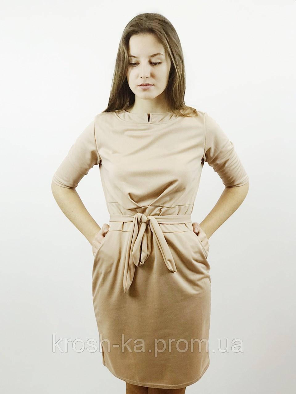 Сукня жіноча трикотиновое бежеве(36,38)р Histeric Glamour Китай 0276