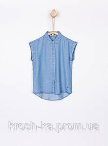 Блуза-рубашка для девочки Tiffosi Португалия голубой 16502