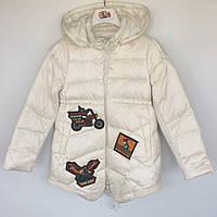 Пальто демісезонне для дівчинки MotoBike Vilen Китай молочне 014809