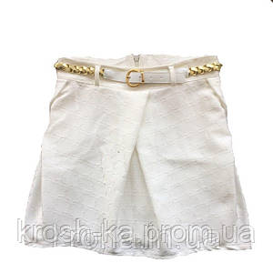 Юбка для девочки KifKids Турция экри 33015