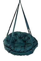 Качель гамак круглая 120 кг 96 см. Подвесная, садовая. Матрас по всему диаметру качели. Цвет: ЗЕЛЁНЫЙ