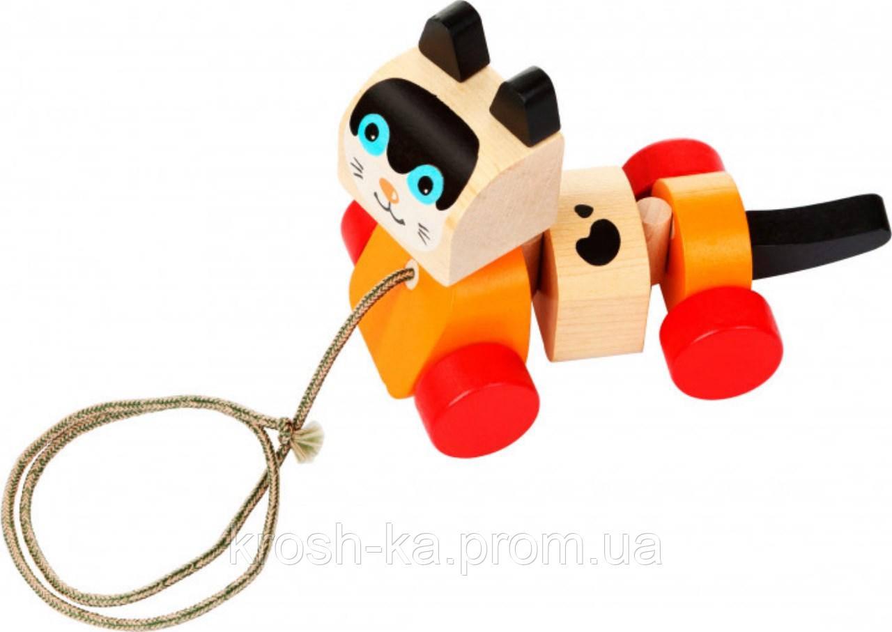 Деревянная игрушка Котик-каталка Cubika Украина 13616