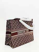Жіноча сумка шопер коричнева Cristia Dior Туреччина 5599