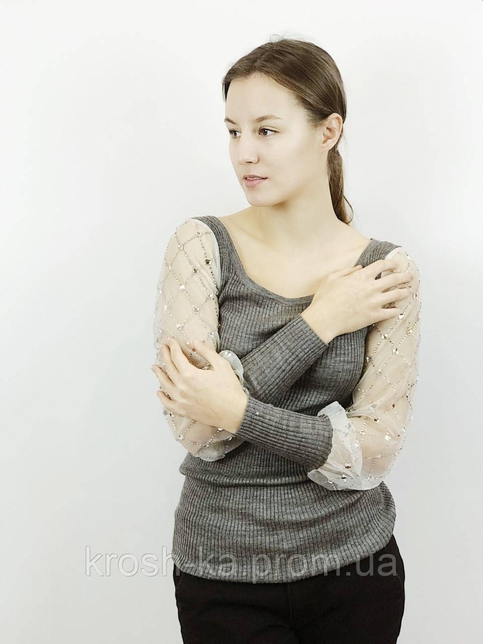 Блуза-реглан жіноча сіра (38)р CotaDog Корея 02147