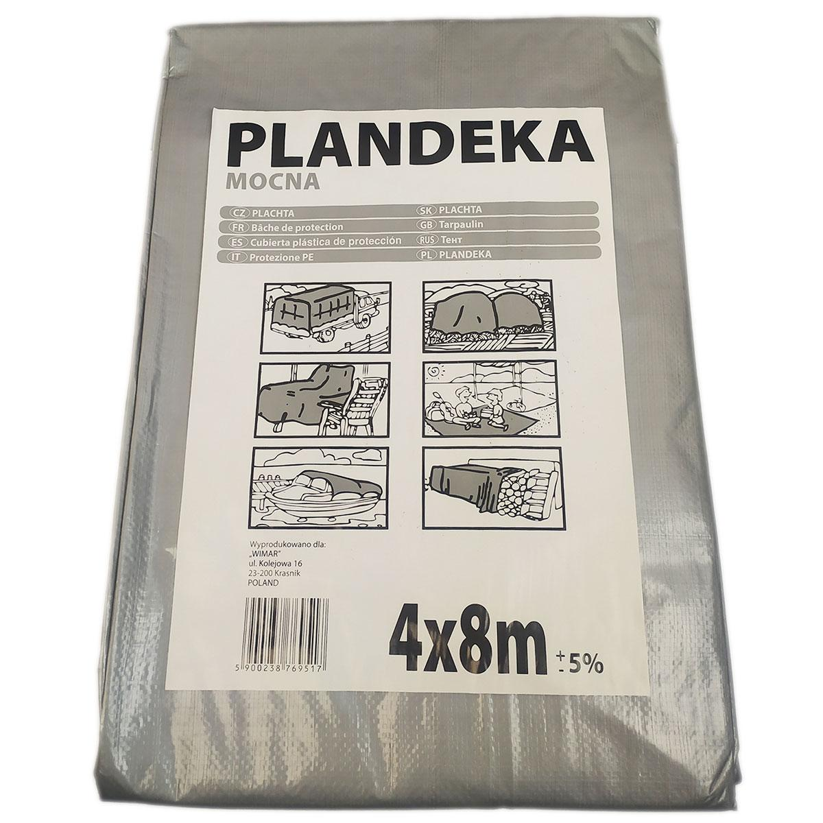 "Тент от солнца дождя и снега ""Plandeka"" 100g\m2 - 4х8м. Ламинированный с кольцами. Пологи"