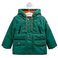Куртка-парка демисезонная для мальчика с капюшоном зелёная (74)р (Bembi)Бемби Украина КТ171